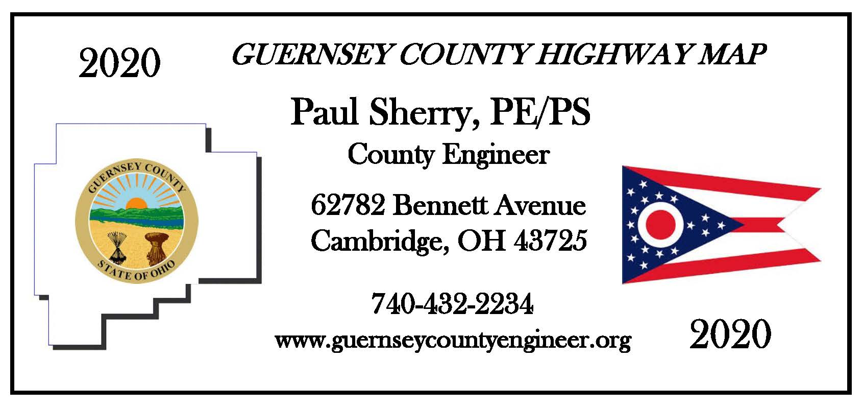 2020 Guernsey County Highway Maps